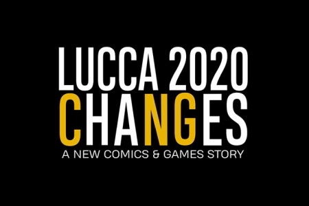 Logo of Lucca Changes. A new Comics&Games Story
