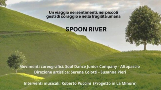 "Poster of the theater performance ""Dormono sulla collina"""