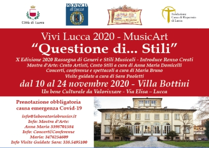 "Poster of the festival ""Questione di... Stili"" edition 2020"