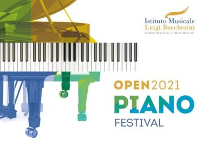 Image of the logo OPEN Piano 2021. Image of a piano and the title Open2021 Piano