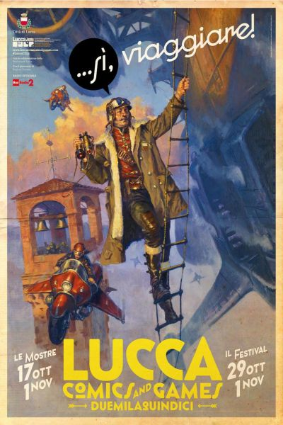 tower of hours in the poster of lucca comics and games 2015