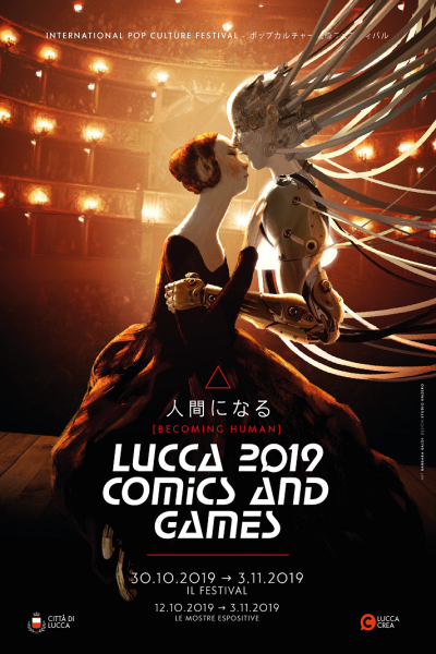 teatro del giglio in the poster of lucca comics and games 2019