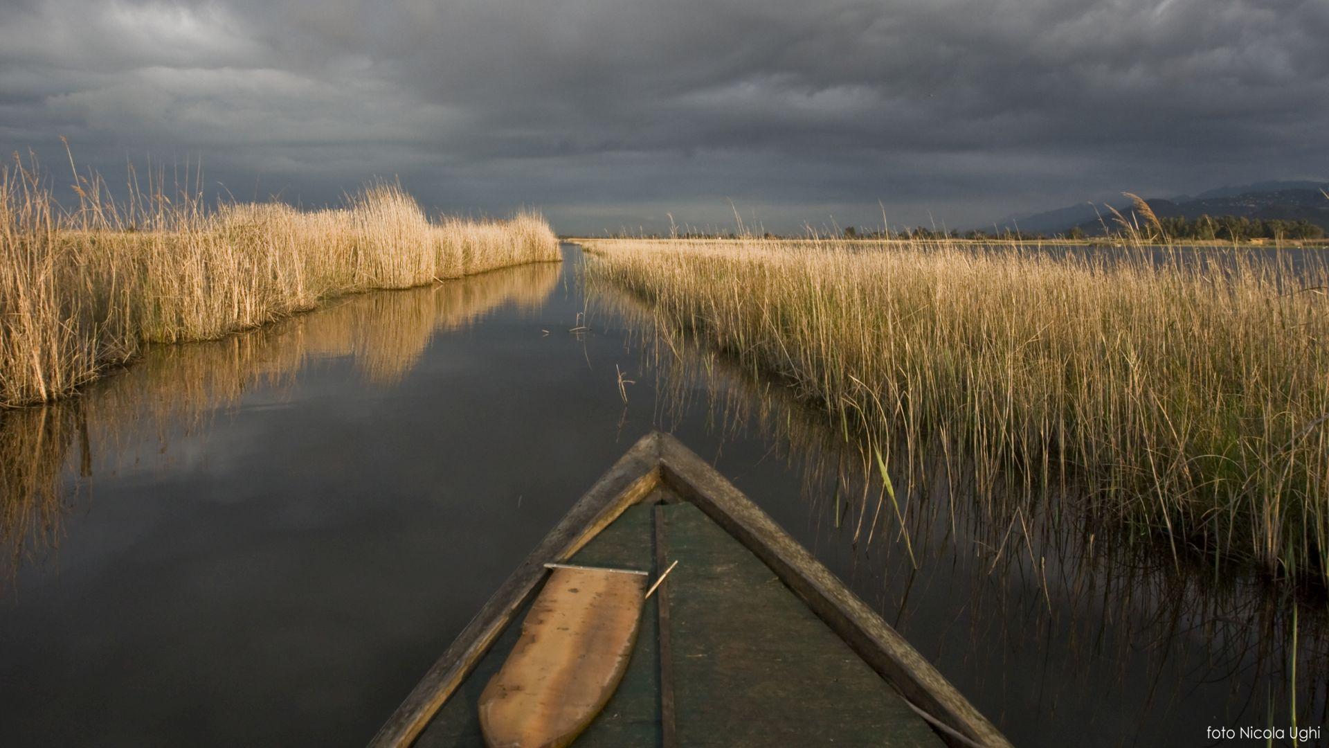 gita tra i canali sul lago di Massaciuccoli