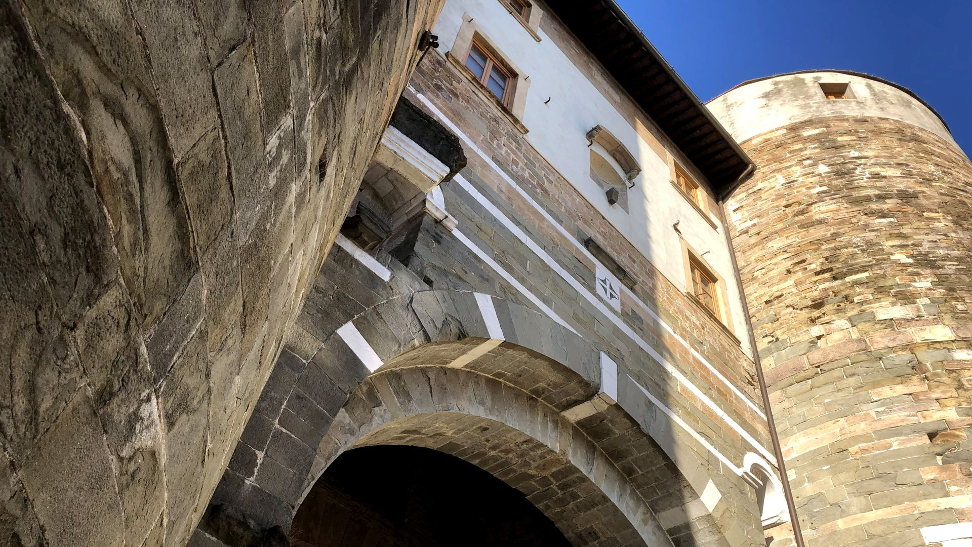 Porta San Gervasio of the medieval walls of Lucca