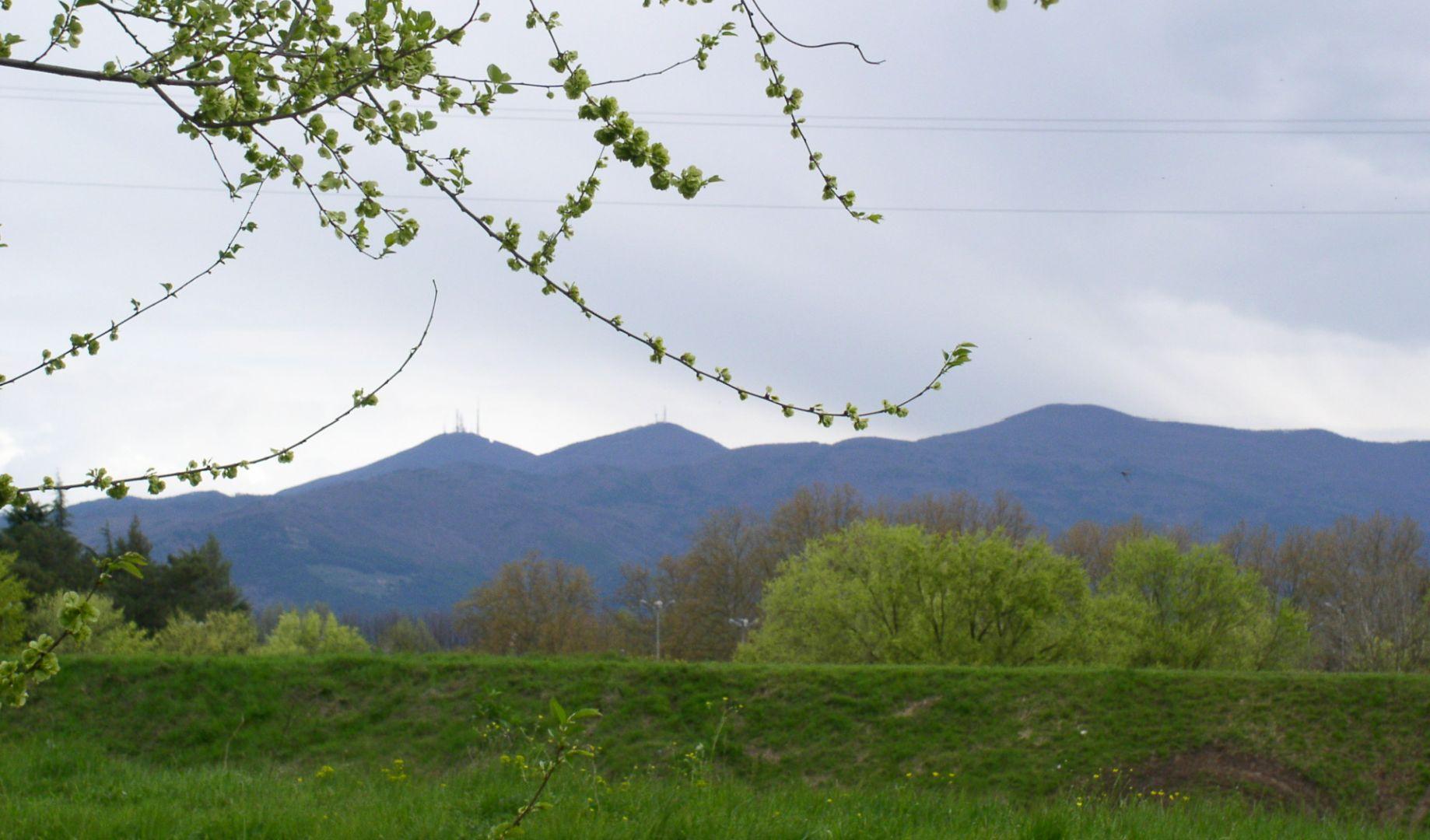 Monte Pisano visto da Lucca