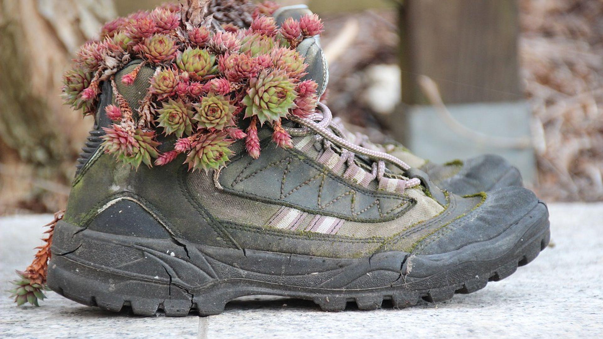scarpone con fiori