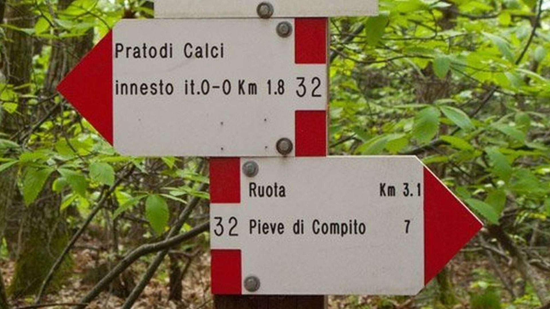 SEGNALETICA TREKKING SUL MONTE PISANO