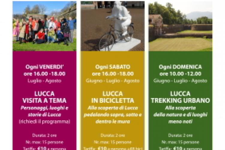 AGT Lucca Poster - Let's restart. Guided tours.