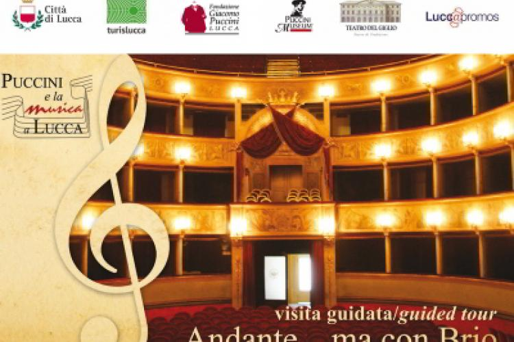 Poster: Andante... ma con brio - Guided visits about music and Giacomo Puccini in Lucca