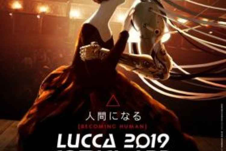 the poster of Barbara Baldi for Lucca comics and games 2019, an impossible kiss